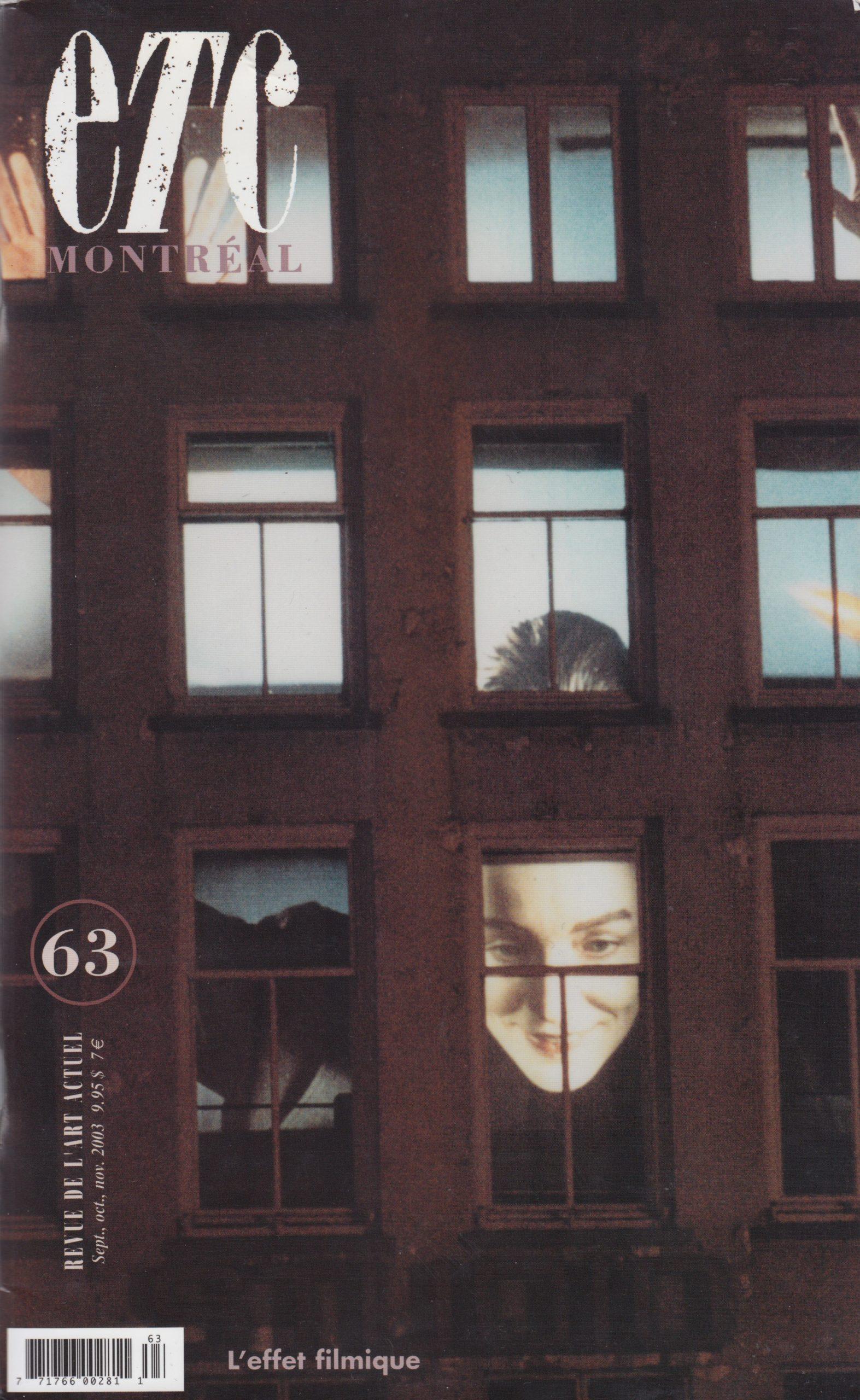 Vidéo et figures de la réappropriation, Joanne Lalonde, Revue ETC Montréal, no 63, 2003