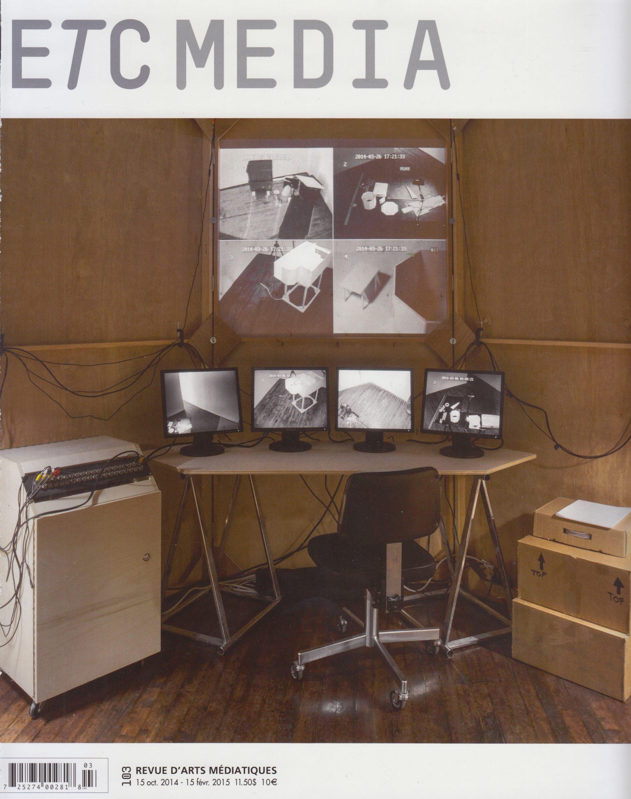 Tables d'écoute de Mario Côté, traduction du musical au pictural, Marie-Claude Lacroix, ETC Media, no 103, 2014